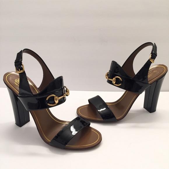 5cef3be6c2 Gucci Shoes | Womens Alyssa Black Patent Leather Sandals | Poshmark